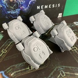 NEMESIS : 4x Set Capsule di Salvataggio Deluxe 3D Escape Pods Token Sci-fi