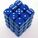 36 d6 Die Set Chessex OPAQUE BLUE bianco Dice OPACO BLU bianco Dadi Dado 25806
