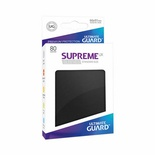 80 Sleeves Ultimate Guard SUPREME UX STANDARD Black Bustine Protettive Nero