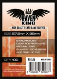 100 Sleeves RAVEN KING 57,5x89 Bustine Protettive Standard USA