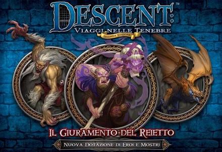 DESCENT : IL GIURAMENTO DEL REIETTO Espansione Gioco da Tavolo  Seconda Edizione in Italiano