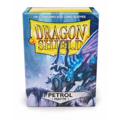 100 Sleeves Dragon Shield Magic MATTE PETROL Bustine Protettive Petrolio