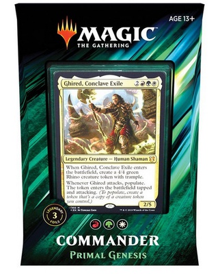 Mazzo Magic Commander 2019 PRIMAL GENESIS Deck C19 Italiano