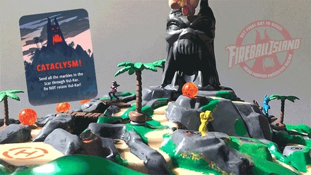 FIREBALL ISLAND THE CURSE OF VUL-KAR (Kickstarter Edition) Gioco da Tavolo