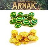 Le Rovine Perdute di Arnak: Set 54x Monete e Token Bussola  Deluxe