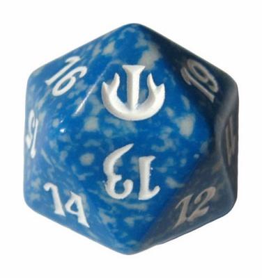 Magic SPINDOWN Dice d20 JOU Blue Blue Dado Segna Punti Life Counter