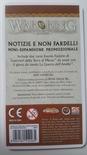 LA GUERRA DELL'ANELLO : NOTIZIE E NON FARDELLI  Carte Promo Gioco da Tavolo