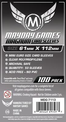 100 Card Sleeves Mayday MAGNUM 61x112 Bustine Protettive Giochi da Tavolo Buste
