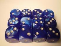 12 d6 Die Set Chessex VELVET BLUE silver Dice BLU argento Dadi Dado 27676