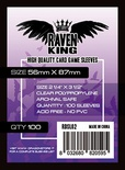 100 Sleeves RAVEN KING 56x87 Bustine Protettive