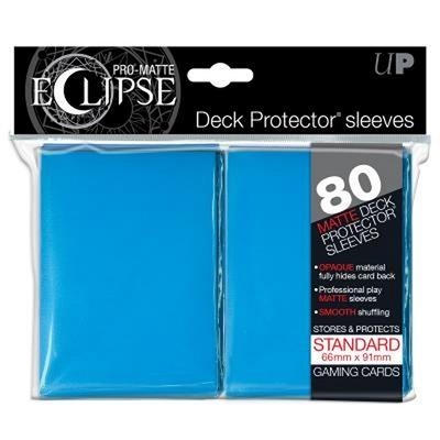80 Sleeves Ultra Pro ECLIPSE PRO MATTE Celeste Bustine Protettive Light Blue