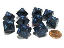 10 d10 Dice Set Chessex SPECKLED COBALT Blue 25107 MACULATO COBALTO Blu Dadi Dado