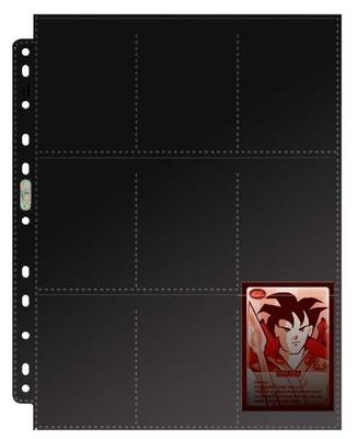 9 Pocket Pages Ultra Pro PREMIUM BLACK Nero Fogli Pagine Raccoglitore