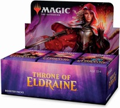 Box Magic THRONE OF ELDRAINE -  TRONO DI ELDRAINE 36 Buste Booster Inglese