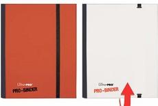 Album Ultra Pro PRO BINDER WHITE RED Bianco Rosso Raccoglitore 4 Tasche 20 Pagine
