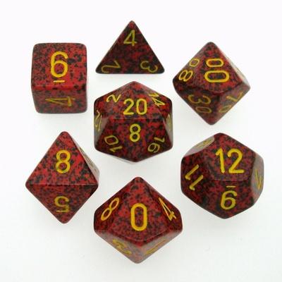 7 Die Set Chessex SPECKLED MERCURY gold 25323 MACULATO MERCURIO oro Dadi Dado Dice