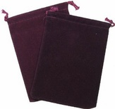 Cloth Dice Bag Large Chessex BURGUNDY Sacchetto di Stoffa per Dadi Grande Borgogna