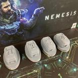 NEMESIS : 4x Set Capsule di Salvataggio 3D Escape Pods Token Sci-fi