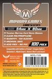 100 Card Sleeves Mayday YUCATAN NARROW 54x80 Bustine Protettive Giochi da Tavolo Buste