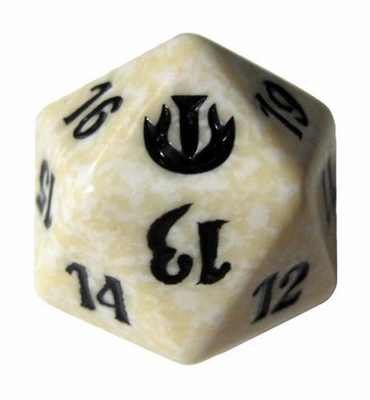 Magic SPINDOWN Dice d20 JOU White Bianco Dado Segna Punti Life Counter