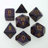 7 Die Set Chessex SPECKLED HURRICANE gold 25317 MACULATO URAGANO oro Dadi Dado Dice