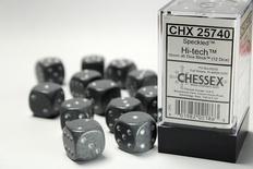 12 d6 Dice Set Chessex SPECKLED HI-TECH 25740 Grey Dadi Dado Die