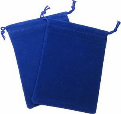 Cloth Dice Bag Small Chessex ROYAL BLUE Sacchetto di Stoffa per Dadi Piccolo Blu