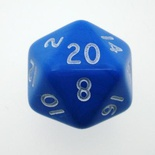 d20 Dice Chessex 16mm Opaque Black white PQ2006 Dado Opaco Nero bianco