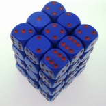 36 d6 Die Set Chessex OPAQUE PURPLE rosso Dice OPACO VIOLA rosso Dadi Dado 25817