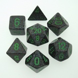 7 Die Set Chessex SPECKLED EARTH green 25310 MACULATO TERRA verde Dadi Dado Dice