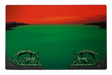 Playmat Dragon Shield Magic ARCANE DRAGONS GREEN RED ZONE Verde Rosso Tappetino 60x40 cm Carte