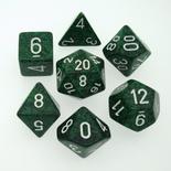 7 Die Set Chessex SPECKLED RECON white 25325 MACULATO RECON bianco Dadi Dado Dice