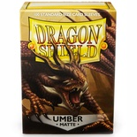 100 Sleeves Dragon Shield Magic MATTE UMBER Bustine Protettive Ambra Buste