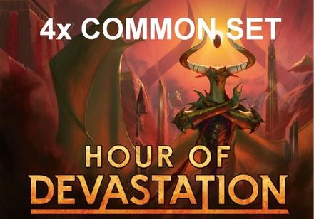 4x Common Set Magic HOUR OF DEVASTATION Set Comuni HOU Inglese