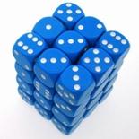 36 d6 Die Set Chessex OPAQUE LIGHT BLUE white Dice OPACO BLU CHIARO bianco Dadi Dado