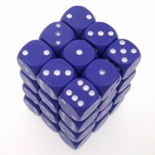 36 d6 Die Set Chessex OPAQUE PURPLE white Dice OPACO VIOLA  bianco Dadi Dado