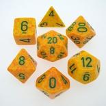 7 Die Set Chessex SPECKLED LOTUS green 25312 MACULATO LOTO verde Dadi Dado Dice