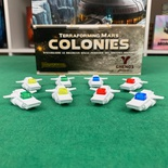 Terraforming Mars: 8x Set Deluxe Cargo Ships 3D Navi Commerciali