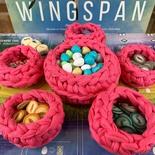 Wingspan : Set 6x Cestino Nido Bird Nests Deluxe Handmade