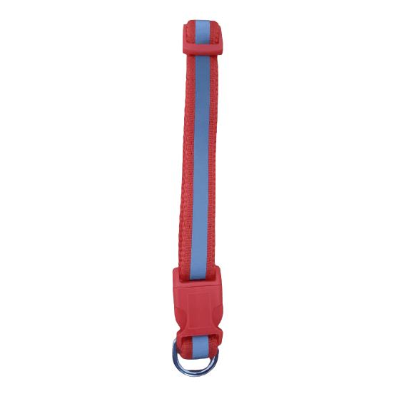 Mediano -  Rojo Collar con Reflector / Agla