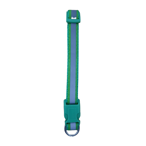 Mediano -  Verde Collar con Reflector / Agla