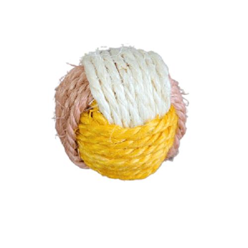 1 Unidad - Pelota Rascador Amarilla / Bomei