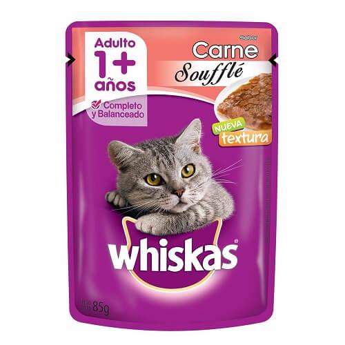 85gr - Souffle Gato Adulto Carne / Whiskas