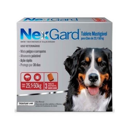 25-50kg Perros - 3 Tabletas Para Pulgas y Garrapatas / NexGard