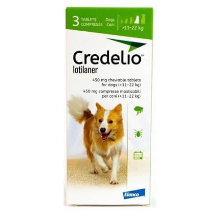 11kg a 22kg Perros - 3 Tabletas Para Pulgas y Garrapatas / Credelio
