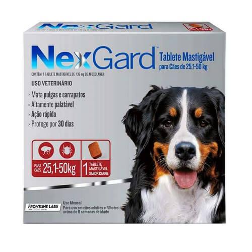 25-50kg Perros - 1 TabletaPara Pulgas y Garrapatas / NexGard