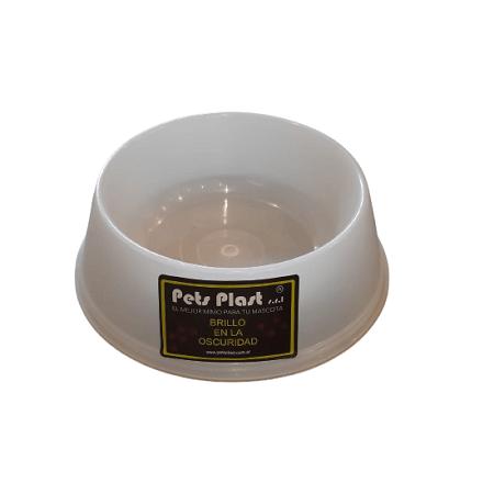 250ml - Plato Brilla en Oscuridad / Pets Plast