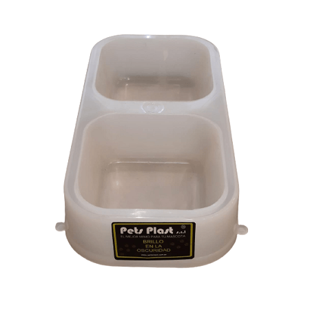 480ml - Plato Doble Brilla En Oscuridad / Pets Plast