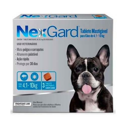 4-10kg Perros - 1 Tableta Para Pulgas y Garrapatas / NexGard