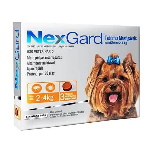 2-4kg Perros - 3 Tabletas Para Pulgas y Garrapatas / NexGard